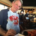 Eating lobstah turtned into an endurance event. Grandpa won