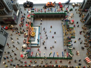 A Lego version of Rockefeller Center, as seen from above. (Photo Credit: Gordon)