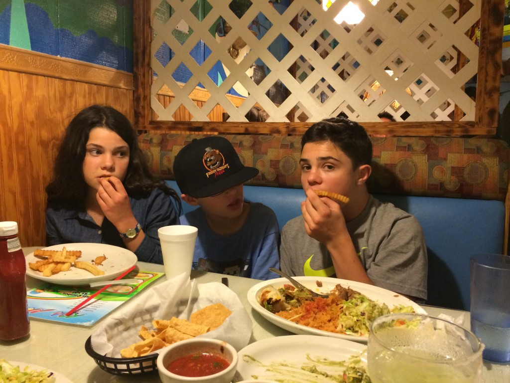 Stuffing our Faces with Mexican Food