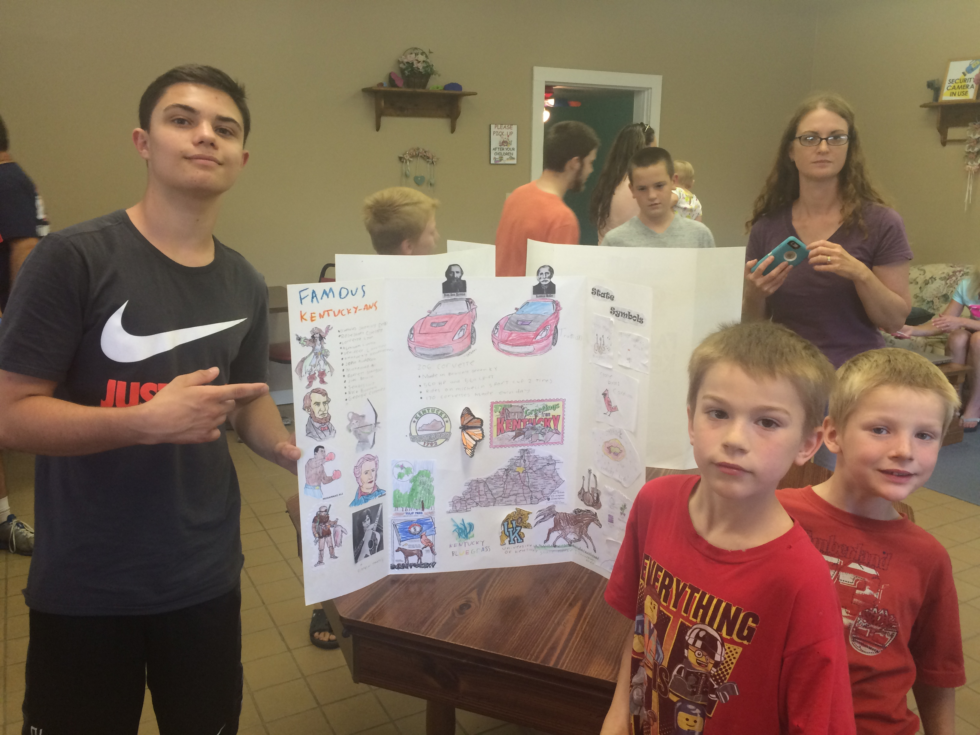 Gordon, Camden, and Bennett with their project.